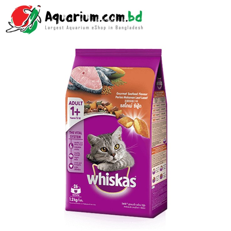 Whiskas® Dry Adult 1+ Gourmet Seafood Flavour Cat Food- 3KG