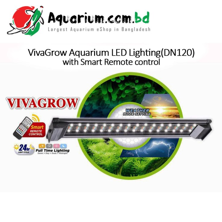 VivaGrow Aquarium LED Lighting(DN120) with Smart Remote Control