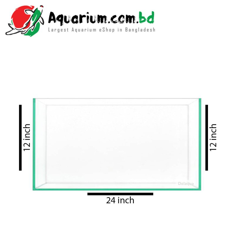 "24""x12""x12"" Glass Aquarium Tank"