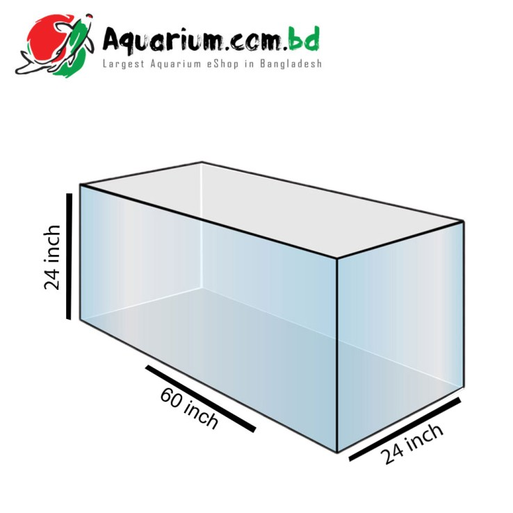 60x24x24 Regular Glass Aquarium Tank