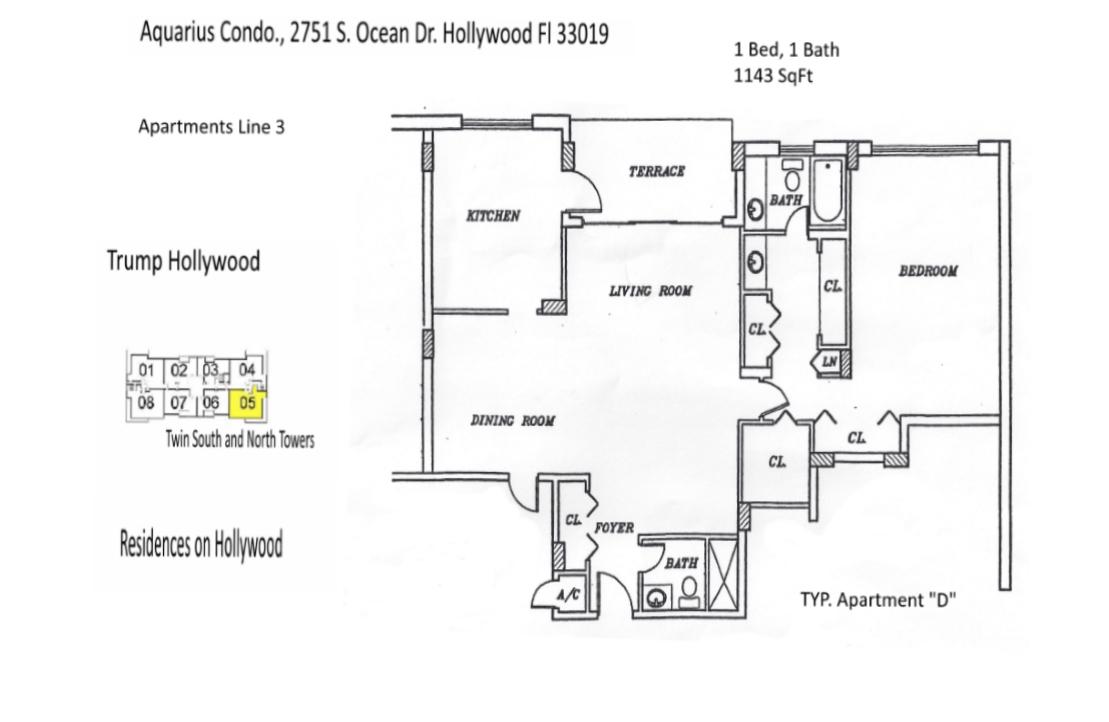 Floor Plans Aquarius Condominium Hollywood Florida