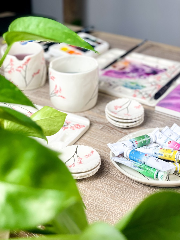 Supplies used in Watercolor
