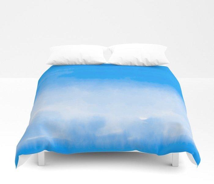 cobalt-blue-watercolor-duvet-covers