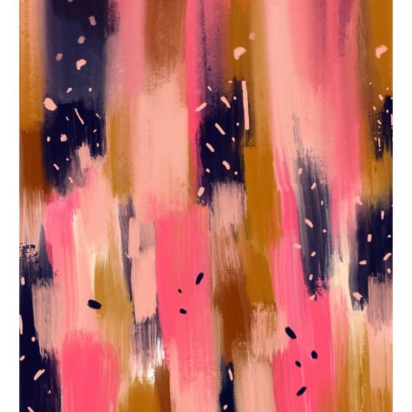 Painterly Navy Pink