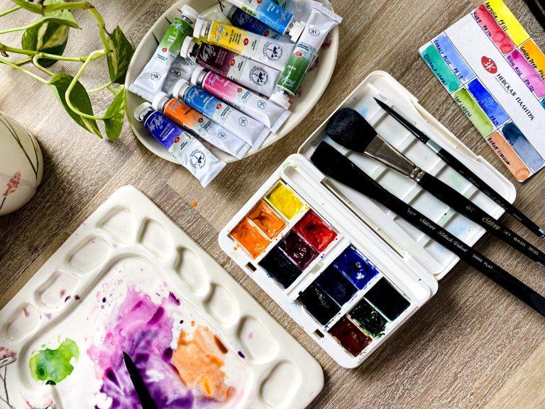 watercolor supplies - different paints