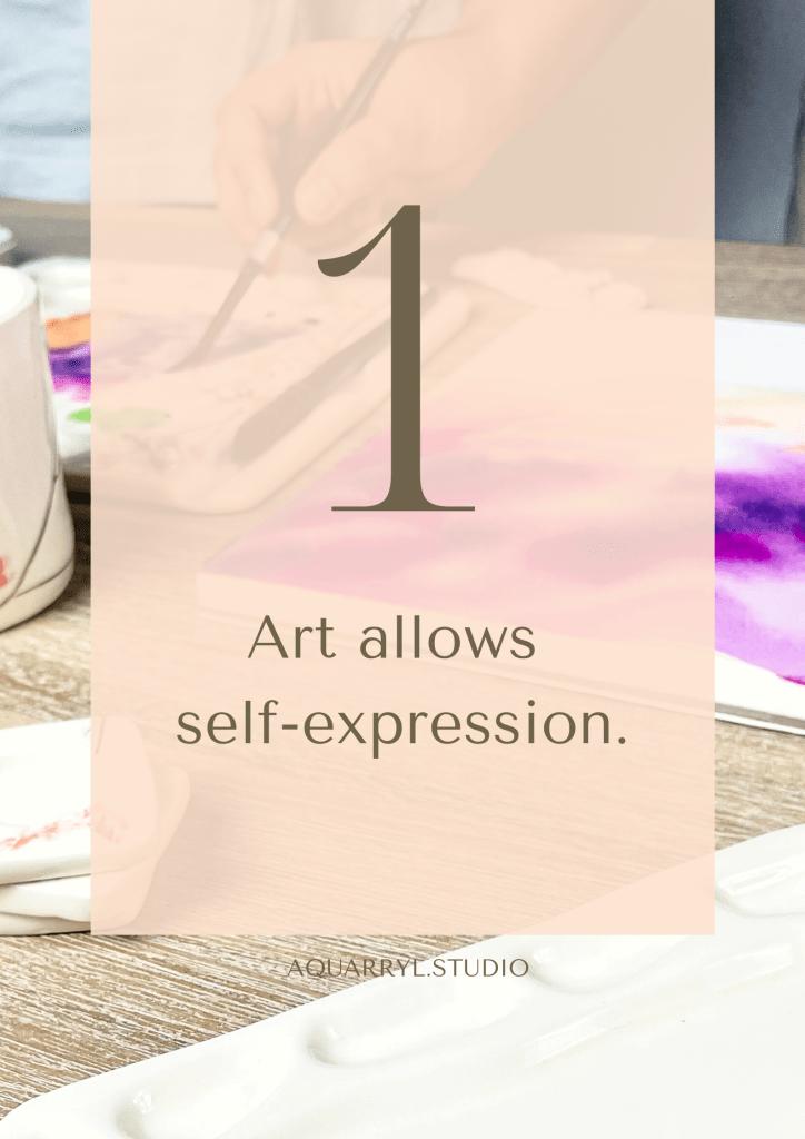 art allows self-expression