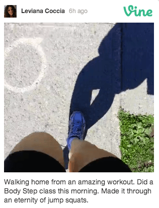 Video 3: Walking home from the gym.