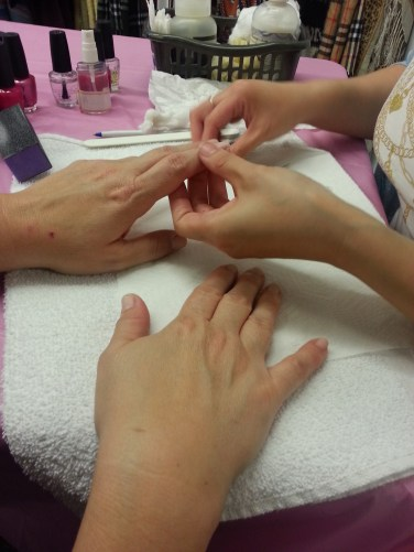 Manicures by donation at the Kind Exchange on Thursday, October 3 to help spread breast cancer awareness and find an end to breast cancer.