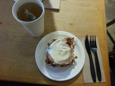 Grounds for Coffee, this tiny cafe in Kitsilano, has the most delicious cinnamon buns around.