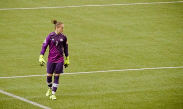 Our incredible goalkeeper Erin McLeod.