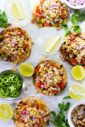 Mexican street corn tacos with cajun chicken. Photo courtesy of: Taylor Stinson.