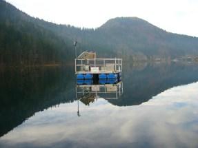Measuring platform on Lake Lunz
