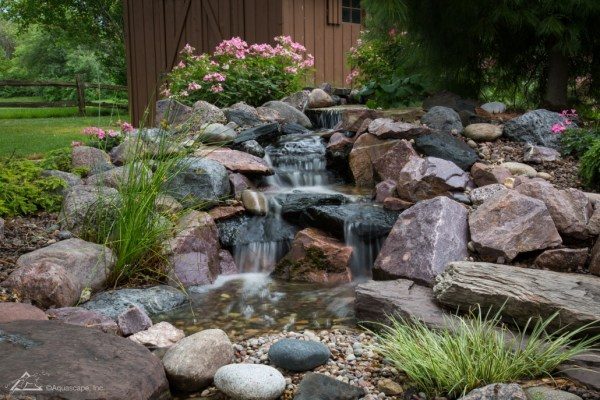 pondless waterfall design & construction