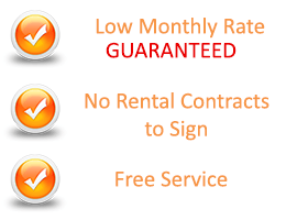 Low monthly rate guaranteed