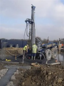 GroundSource Boreholes on a building site