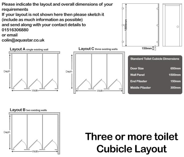 Treble Cubicle Layout