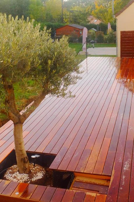 Amnagement paysager  Paysagiste spcialiste terrasse bois dans les Yvelines 78