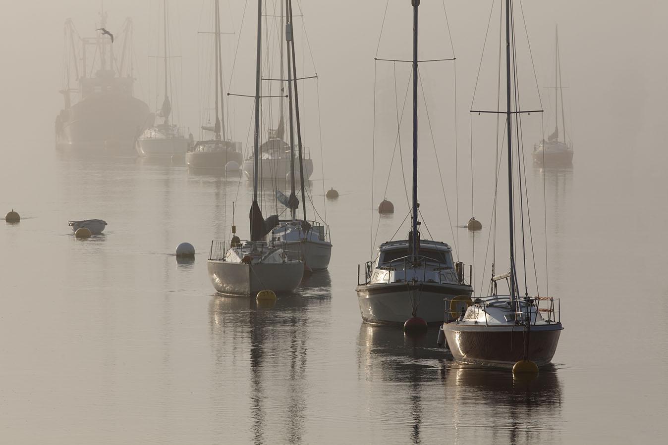 Harbour in Fog print