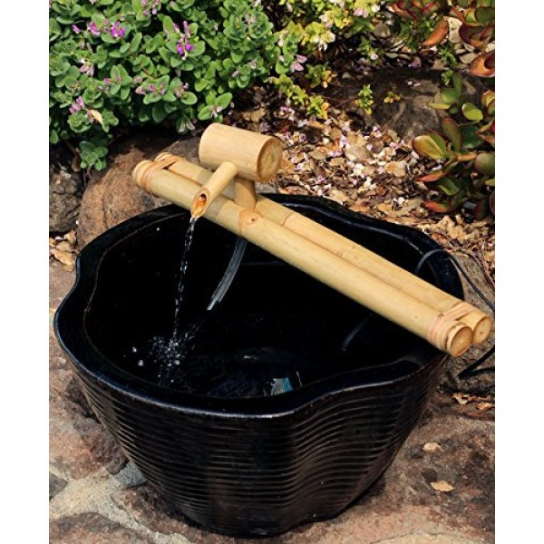 Bamboo Accents Zen Garden Water Fountain Spout Complete