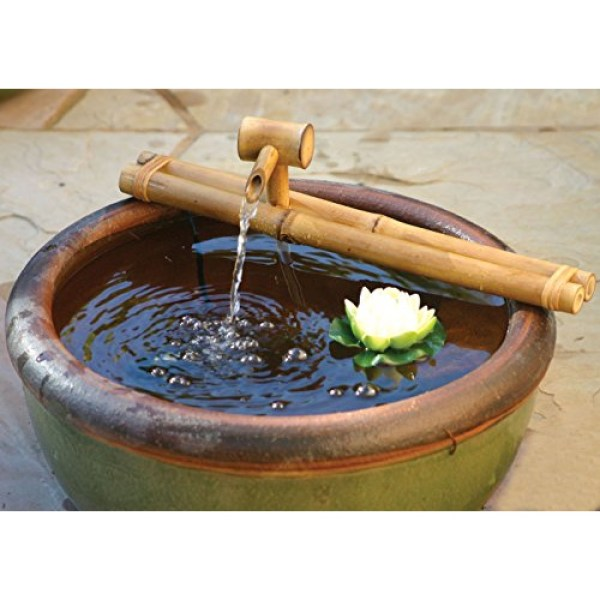 Bamboo Accents Zen Garden Water Fountain Spout Complete