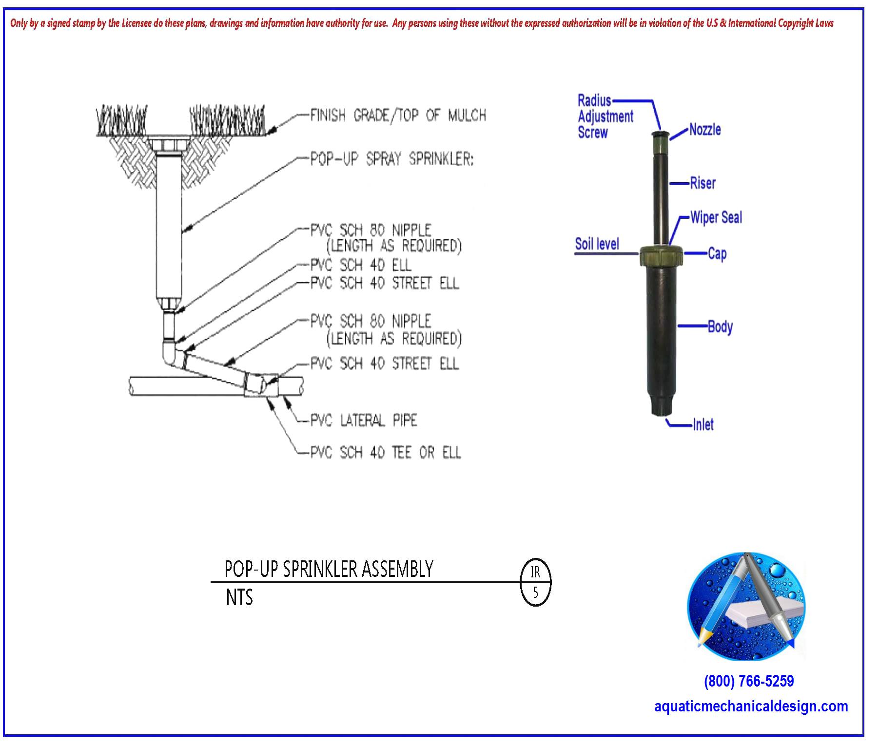 hight resolution of sample pop up sprinkler detail