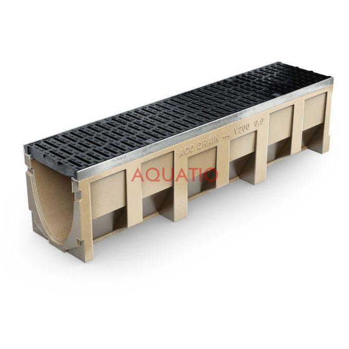 Aco Multiline V200 Aquatiopoland Com Stainless Steel Drainage Drainage System Shower Channels Showerdrain Bathroom Point Drainage