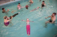 Advanced Aquatots learning lifesaving skills
