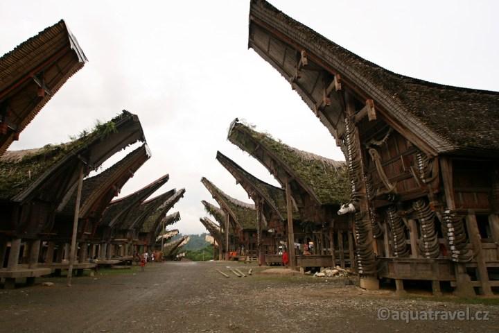 Kete Kesu - vesnice s tradičními Tongkonany (domy) Torajů