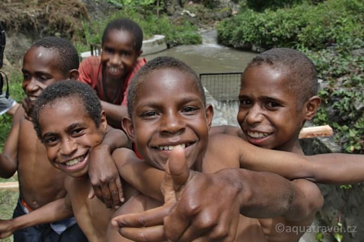 Děti kmen Dani Wamena