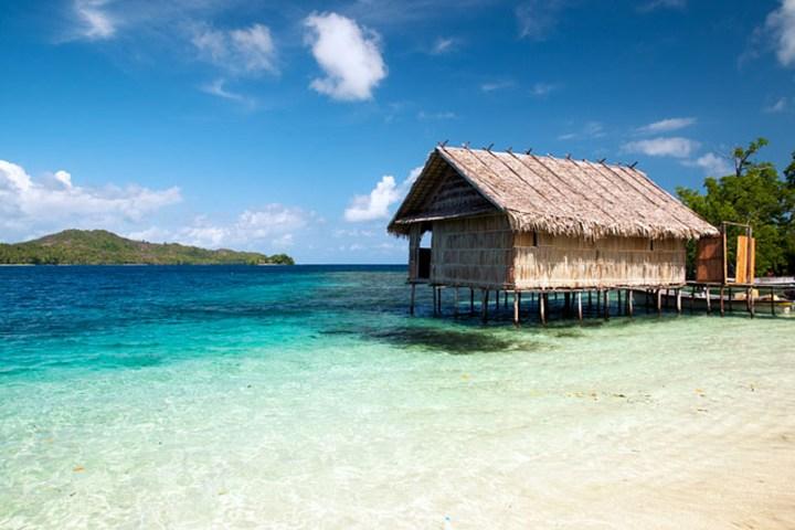 Raja Ampat - dům na moři