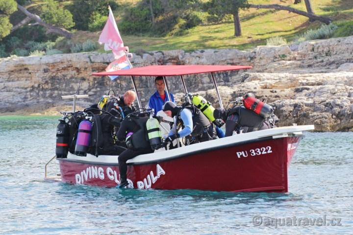 Chorvatsko potápění před Verudou