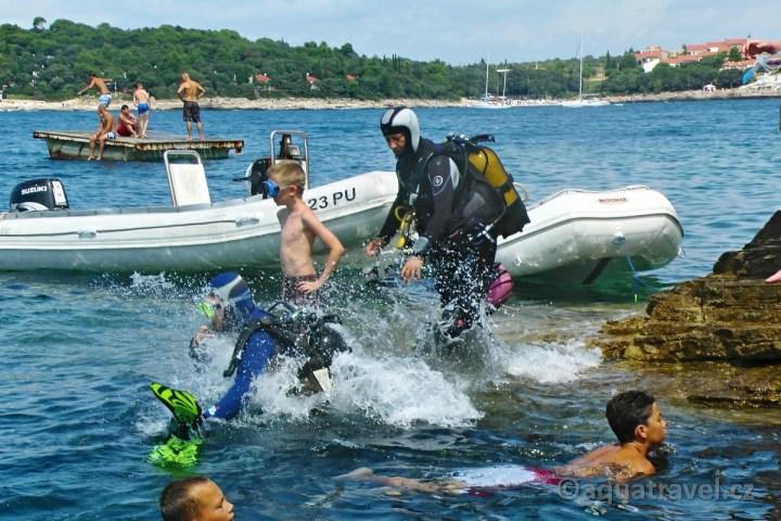 Potápění z ostrova Veruda