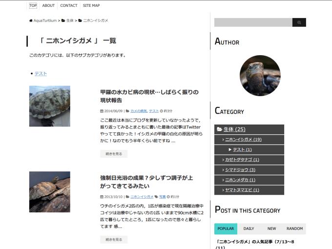 AquaTurtliumの移転に向けて新しいブログデザインを作成中