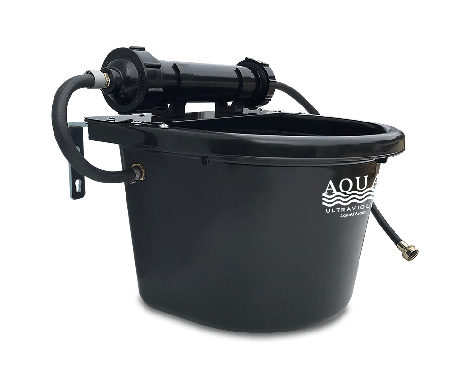 AquaUV_RUFUS_Dog Bowl_Metal_Black
