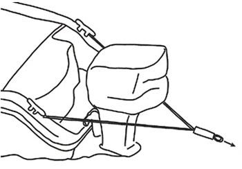 AIR HEAD トゥハーネス 船外機ボートトーイング用 Y字形トーロープ