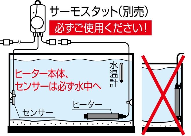 ▲正しいヒーターの使い方例
