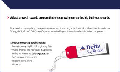 Delta Sky Bonus Ad