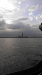 A view of the Statue of Liberty from the Staten Island Ferry