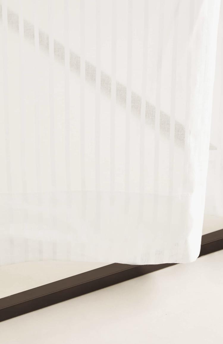 Cortina Algodon Lineas Bordadas de Zara Home