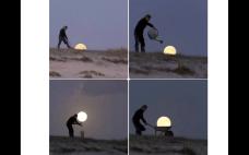 Luna con efectos