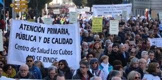 Manifestación por la sanidad pública de calidad en Valladolid