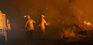 Bomberos Queensland Australia incendio