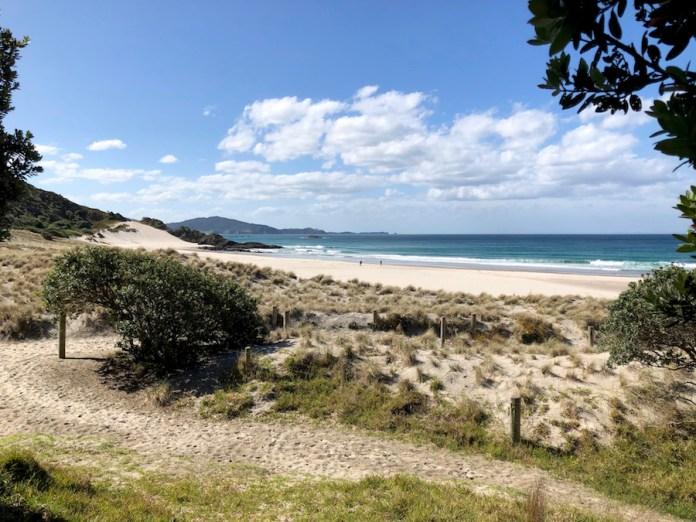 NZ Diario de un viaje. Playa de Ocean Beach prácticamente desierta