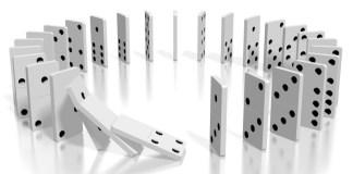 Fichas de dominó 123rf