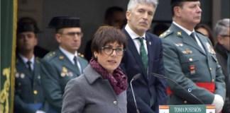 María Gámez toma posesión como directora general de la Guardia Civil en presencia del ministro Grande Marlaska el 22 de enero de 2020