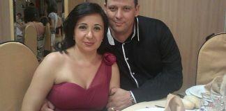 Paco Paredes con su mujer Lucía, enfermera