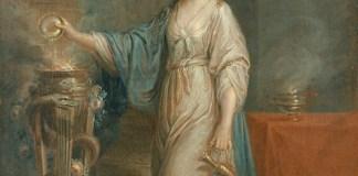 Angelika Kauffmann: retrato de una mujer como vesta