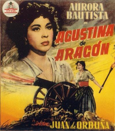 Aurora Bautista interpreta a Agustina de Aragón, 1950