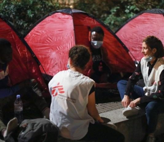 MSF: menores no acompañados en las calles de París © Nicolas Guyonnet/MSF