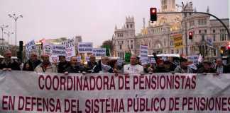 Movilizaciones en defensa del sistema público pensiones en España